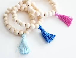 ten minute diy wooden tassel bracelet