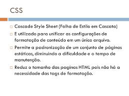 cascade style sheet css cascade style sheet folha de estilo em cascata ppt carregar