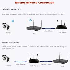 ch wifi nvr wireless security camera system p outdoor ip cam wireless wired closed cctv system 960p outdoor wifi nvr kits