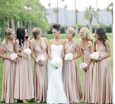 champagne bridesmaid gowns