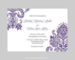 wedding invitation template purple damask instant download Editable Wedding Invitation Templates Free Editable Wedding Invitation Templates Free #34 editable wedding invitation templates free
