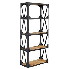 Industrial Bookcase Wood And Metal