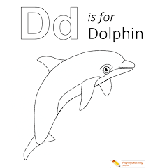 Being social animals, dolphins always travel in groups known as pods. D Is For Dolphin Coloring Page Free D Is For Dolphin Coloring Page