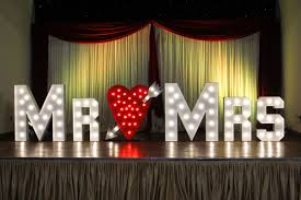 Mr And Mrs Light Up Sign Hire Welcome To Light Up Letters Bali The Only One Stop Shop For