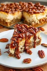 pecan pie cheesecake recipe pinterest. Wonderful Recipe Pecan Pie Cheesecake With Caramel Sauce In Recipe Pinterest