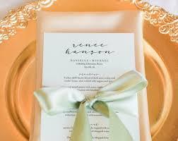 Place Setting Template Beauteous Wedding Menu Template Wedding Menu Printable Place Setting Etsy