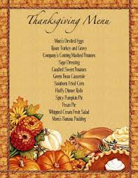 Thanksgiving Dinner Menu Planner Templates Happy Easter