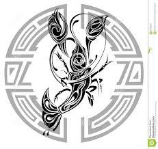 Tattoo знака конструкции рака иллюстрация вектора иллюстрации