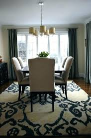 rug over carpet dining room area in on top of o
