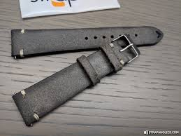 let s take a look at this grey distressed strap first great little distressed piece with vintage inspired stitching the diffe colored stitching at the