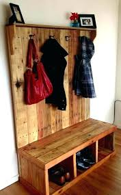 Solid Wood Coat Rack Mirror Coat Rack Storage Bench Coat Rack Coat Rack Entryway Bench 84