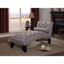 microfiber chaise lounge.  Chaise Clay Alder Home Rialto Grey Tufted Microfiber Chaise Lounge With G