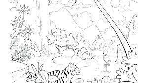 Coloring Pages Forest Animals Forest Coloring Page Forest Coloring Sheet Rain Pages Tropical Best