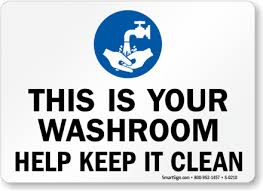 Clean Restroom Signs Clipart  Signs And Notices  PinterestPrintable Keep Bathroom Clean Signs