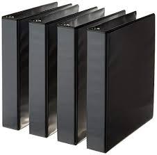 1 5 Binder Amazonbasics 3 Ring Binder 1 5 Inch 4 Pack Black