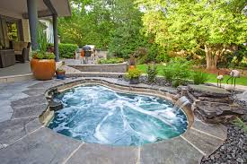 diy inground hot tub pool traditional with in ground hot tub in ground hot tub stone patio czmcam org