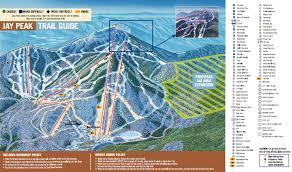 jay peak piste map  trail map