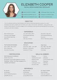 Free Social Media Specialist Resume Template In Adobe Photoshop