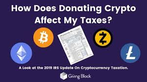General tax principles applicable to property transactions apply to…. How Does Donating Bitcoin Affect My Taxes