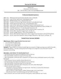 Baseball Resume Teaching Certificate 2 Baseball Player Resume ...