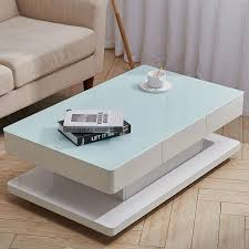 rectangle coffee table with 2 drawers