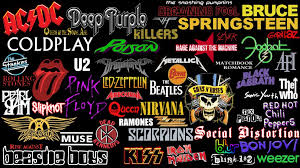 rock bands logos collage new by superbrogio