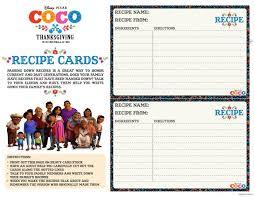 Recipe Cards Print Free Printable Disney Coco Recipe Cards Mama Likes This