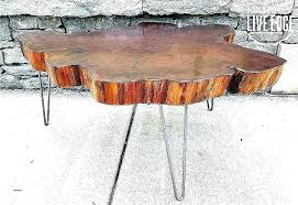 natural wood coffee table canada round slab luxury awesome