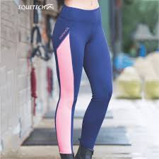 Equetech Freedom Ladies Riding Tights Navy Coral