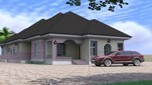 Duplex Designs On Half Plot Of Land 4 Bedroom Bungalow House Design In Nigeria See Description