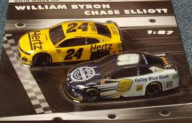 NASCAR Authentics William Byron #24 and Chase Elliott #9 Die Cast Cars -  1:87 Scale 2019 Wave 2: Toys & Games - Amazon.com