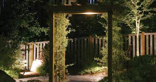 outdoor lighting perspective. Landscape Lighting For Arbor And Pathway Outdoor Perspective