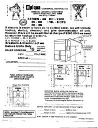 baler and shredder operators manuals piqua models 30 40 hd2200 vertical balers 54 pages includes schematics