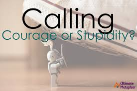 Calling Courage Or Stupidity Life Is A Metaphor