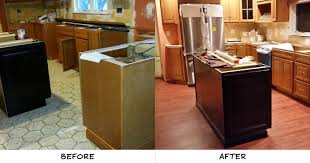 in addition to installing new cabinets appliances and lighting he also decided to replace the old flooring with our rio rosewood resilient vinyl