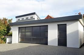 matching garage door and side door with glazing