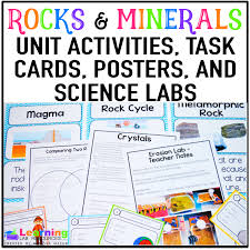 Rocks And Minerals Anchor Chart Rocks And Minerals Activities And Anchor Chart Learning