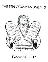 10 Commandments Coloring Pages Raovat24hinfo