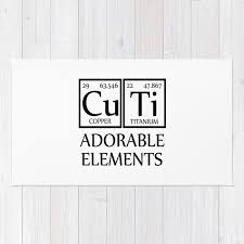 cuti adorable elements periodic table rug