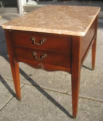 marble top end tables. Brown Antique Marble Top End Tables T