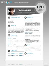 Gallery Of Le Marais Free Modern Resume Template For Word Docx