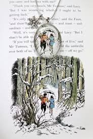 narnia lucy mr tumnus book page ilration necklace 21