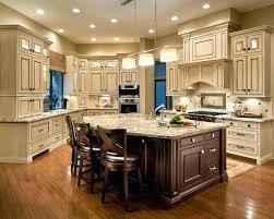 cream kitchen cabinets with dark granite colored brown glaze full size