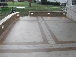 Luxury Concrete Patio Designs 6 Traditional Ashler Stamped 800x