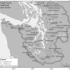 Map Of The Puget Sound Steelhead Esu Denoting The Major