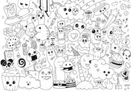 Small Picture Doodling Doodle art Coloring pages for adults JustColor