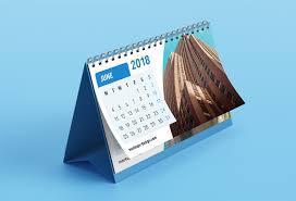 Best 2019 Calendar Design Free Desk Calendar Mockup Best Free Mockups