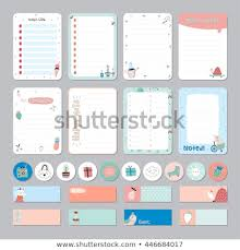 Cute Calendar Daily Weekly Planner Template Stock Vector Royalty