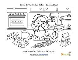 Small Picture Baking with Kids Coloring Page For Kids