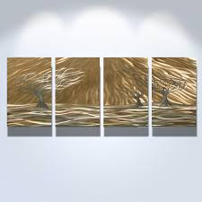 trees  panel  abstract metal wall art contemporary modern